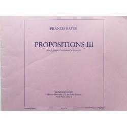 Propositions III