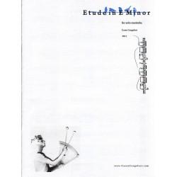 Etude in E Minor for Solo Marimba